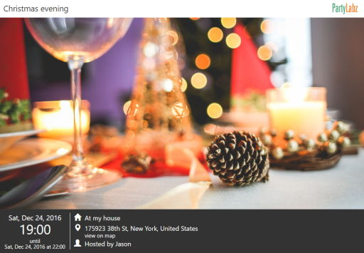 Christmas event web-page example